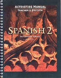 BJU Press Spanish 2 Student Activities Manual Teacher's Edition, 2nd Edition