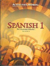 BJU Press Spanish 1 Student Activities Manual