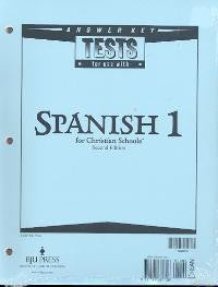 BJU Press Spanish 1 Tests Answer Key