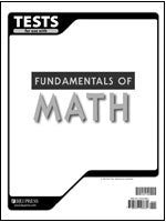 BJU Press Fundamentals of Math Test 2ed