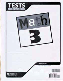 BJU Press Math 3 Testpack (3rd ed.)