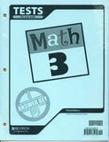 BJU Press Math 3 Testpack Answer Key (3rd ed.)