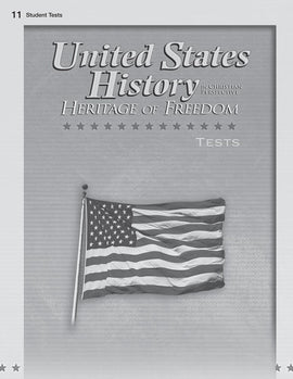 Abeka United States History: Heritage of Freedom Test Book