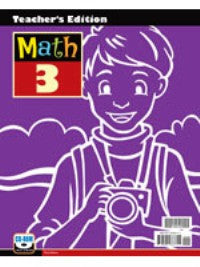BJU Press Math 3 Teacher's Edition w/CD (3rd ed.)