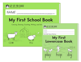 My First Book Set (My First School Book + My First Lowercase Book) - Pre-K/K - HWT