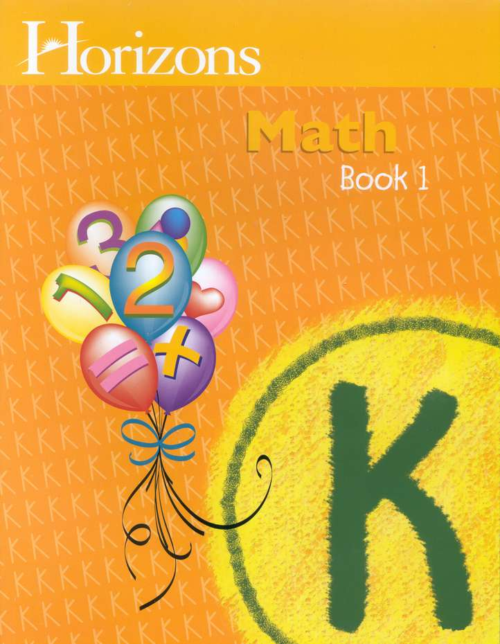 Horizons Math Kindergarten Workbook 1