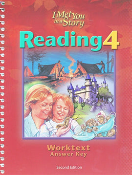 BJU Press Reading 4 Worktext Teacher's Edition, 2nd Edition