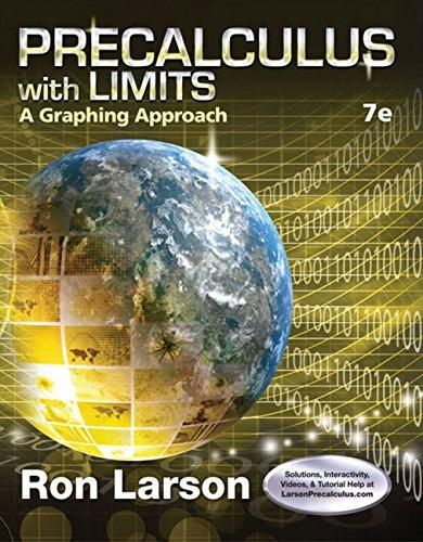 Precalculus With Limits: A Graphing Approach, 7th Edition (USED)