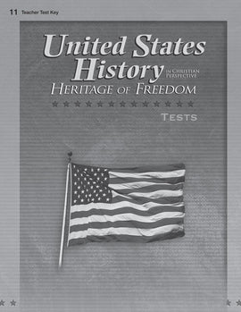 Abeka United States History: Heritage of Freedom Test Key