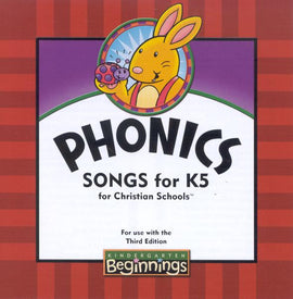 BJU Press Beginnings K5 Phonics Songs CD, 3rd Edition