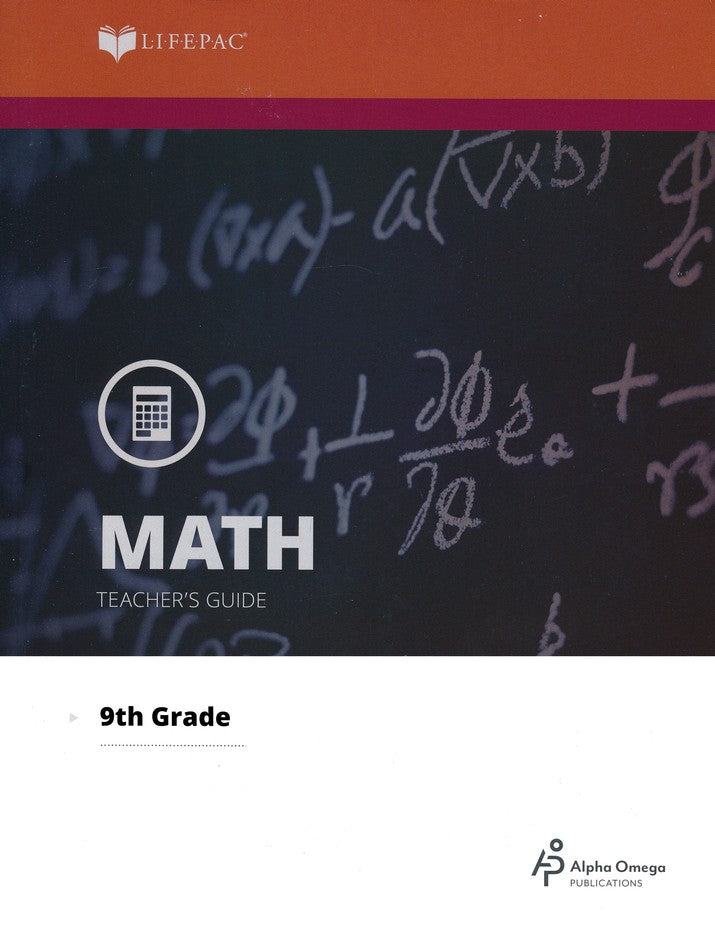 Alpha Omega LIFEPAC 9th Grade - Math - Algebra 1 - Teacher's Guide