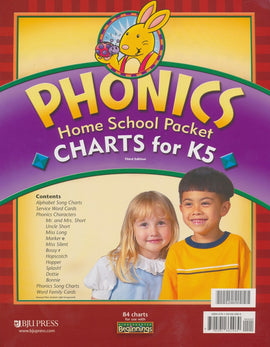 BJU Press Beginnings K5 Phonics Charts Homeschool Packet, 3rd Edition