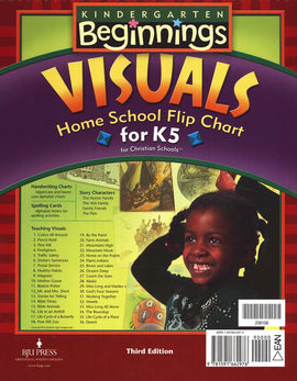 BJU Press Beginnings K5 Homeschool Visual Flip Chart, 3rd Edition