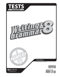 BJU Press Writing & Grammar 8 Tests, 3rd Ed.