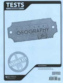BJU Press Cultural Geography Test Answer Key, 4th Edition