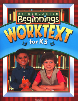 BJU Press Beginnings Student Worktext for K5, 3rd Edition