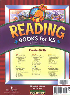 BJU Press Beginnings Reading Books for K5 Set, 3rd Edition