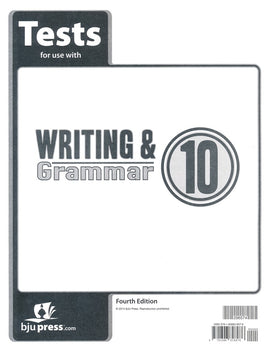 BJU Press Writing & Grammar 10 Tests, 4th Edition
