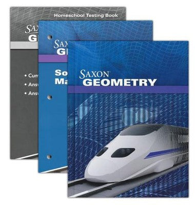 Saxon Math Geometry Homeschool Kit with Solutions Manual
