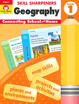 Skill Sharpeners: Geography, Grade 1 Activity Book