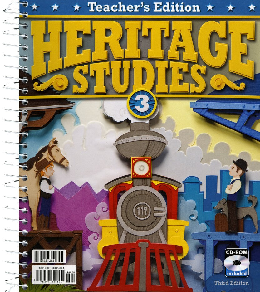 BJU Press Heritage Studies 3 Teacher's Edition with CD (3rd ed.)