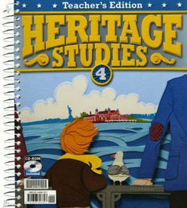 BJU Press Heritage Studies 4 TE Book and CD 3ED