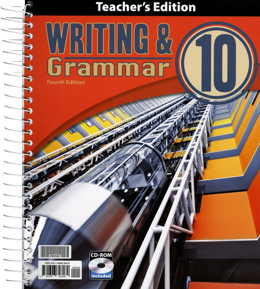 BJU Press Writing & Grammar 10 Teacher's Edition with CD, 4th Edition