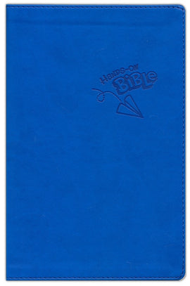 Hands-On Bible- NLT - LeatherLike - Blue with Paper Airplane Design