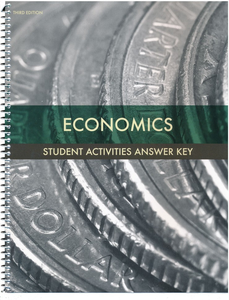 BJU Press Economics Activities Teacher's Edition, 3rd Edition