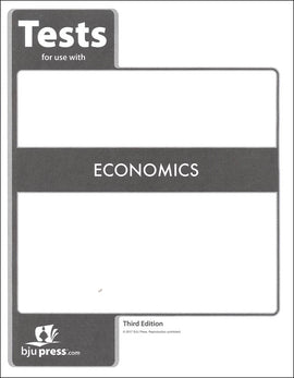 BJU Press Economics Tests, 3rd Edition