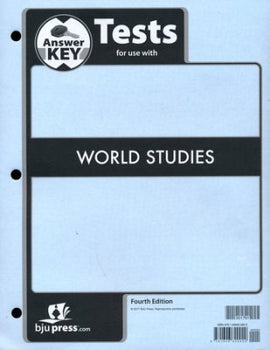 BJU Press World Studies Tests Key (4th edition)