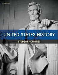 BJU Press United States History Grade 11 Student Activities Manual, 5th Edition