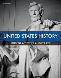 BJU Press United States History Grade 11 Student Activities Manual Teacher's Edition, 5th Edition