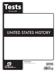 BJU Press United States History Grade 11 Test, 5th Edition