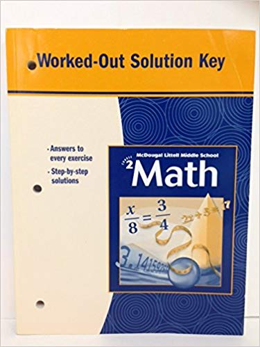 McDougal Littell Middle School Math, Course 2: Worked-Out Solution Key (USED)