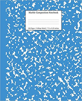 Composition Notebook- Blue Marble - College Ruled