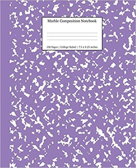 Composition Notebook- Purple Marble - College Ruled
