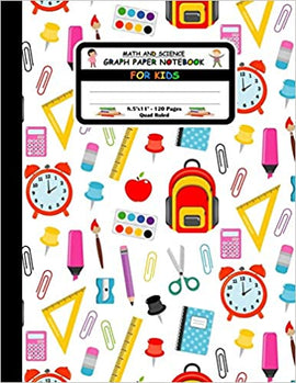 Math And Science Graph Paper Notebook For Kids