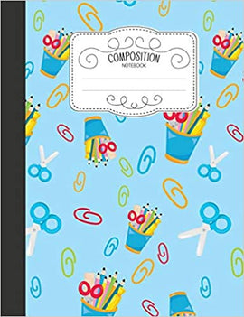 Composition Notebook- School Supplies Patterned Cover - Wide Ruled