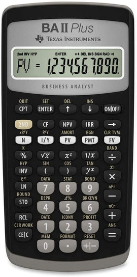 Texas Instruments BA II Plus Advance Financial Calculator