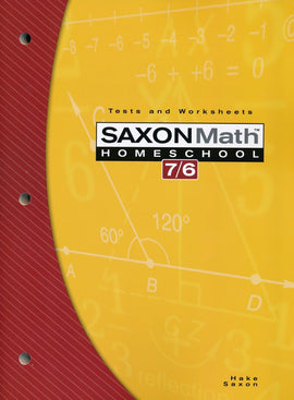 Saxon Math 76 Tests and Worksheets, 4th Edition