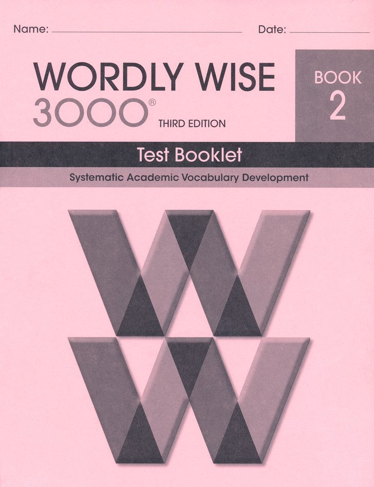Wordly Wise 3000 Test Grade 2, 3rd Edition
