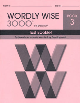 Wordly Wise 3000 Test Grade 3, 3rd Edition