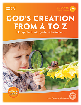God's Creation from A to Z Student Sheets, 2nd Edition