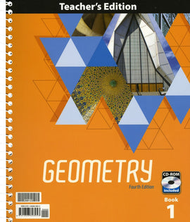 BJU Press Geometry  Teachers Edition Set, plus CD 4ed