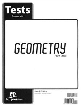 BJU Press Geometry Tests 4ed