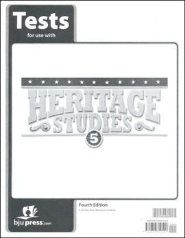 BJU Press Heritage Studies 5 Test 4th ED