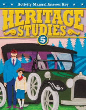 BJU Press Heritage Studies 5 Student Activities Manual AnsKey 4th ED