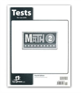 BJU Press Math 2 Tests 4ed
