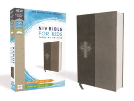 NIV Bible for Kids, Leathersoft, Gray